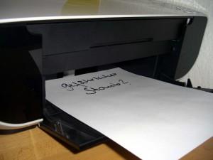 Entsteht beim Drucken gefährlicher Staub? Quelle: Barbara Ochs